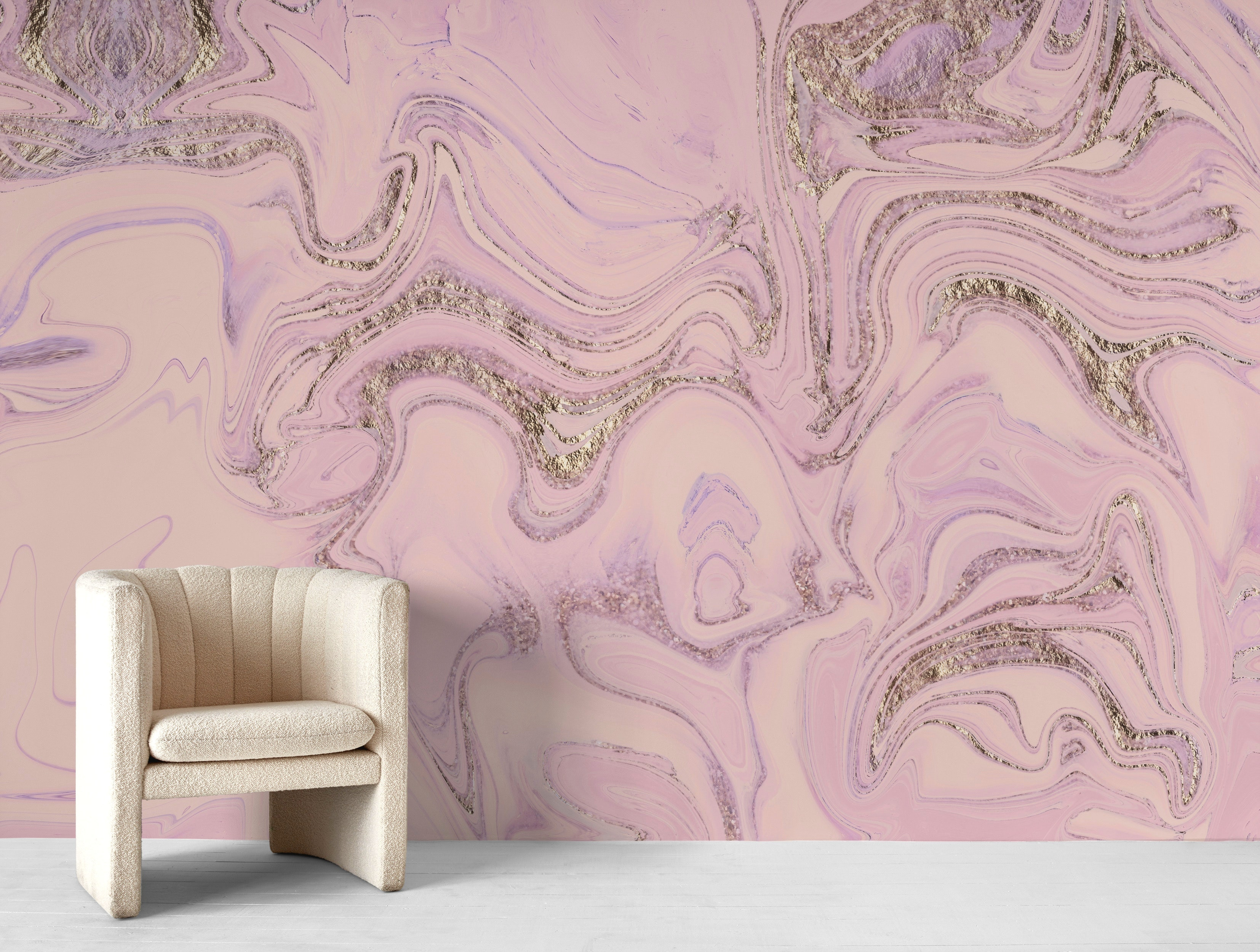 Buy Soft Pink Glitter Marble Wallpaper Free Us Shipping At Happywall Com