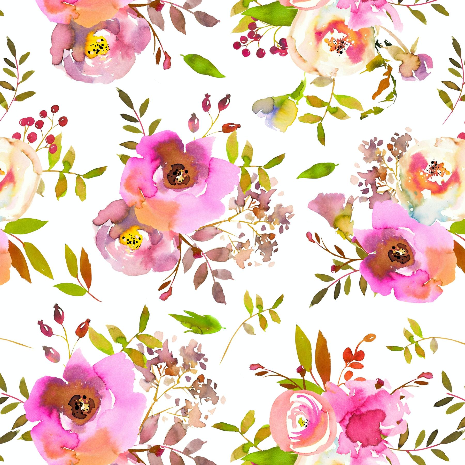Buy Pink Boho Flowers Wallpaper Free Us Shipping At Happywall Com