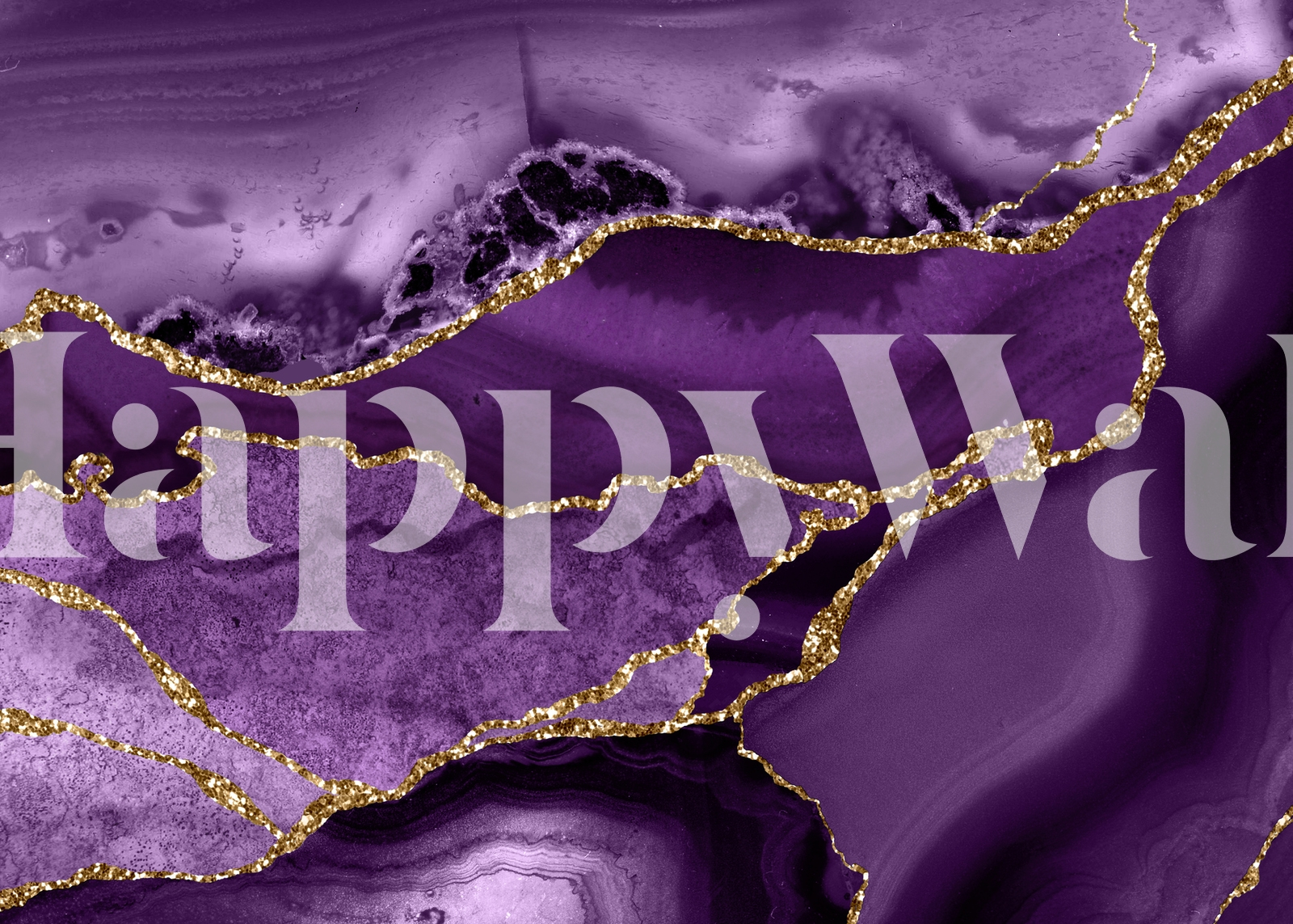 Buy Purple Gold Marble Mosaic Wallpaper Free Shipping At Happywall Co Uk