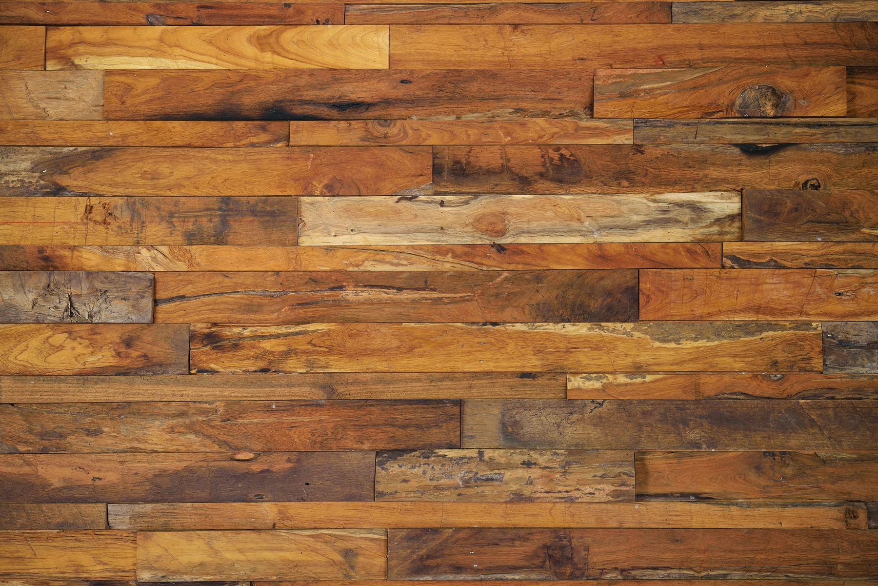 Faux Reclaimed Wood Wall
