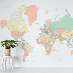 World map countries xxl wall mural photo wallpaper happywall gumiabroncs Choice Image