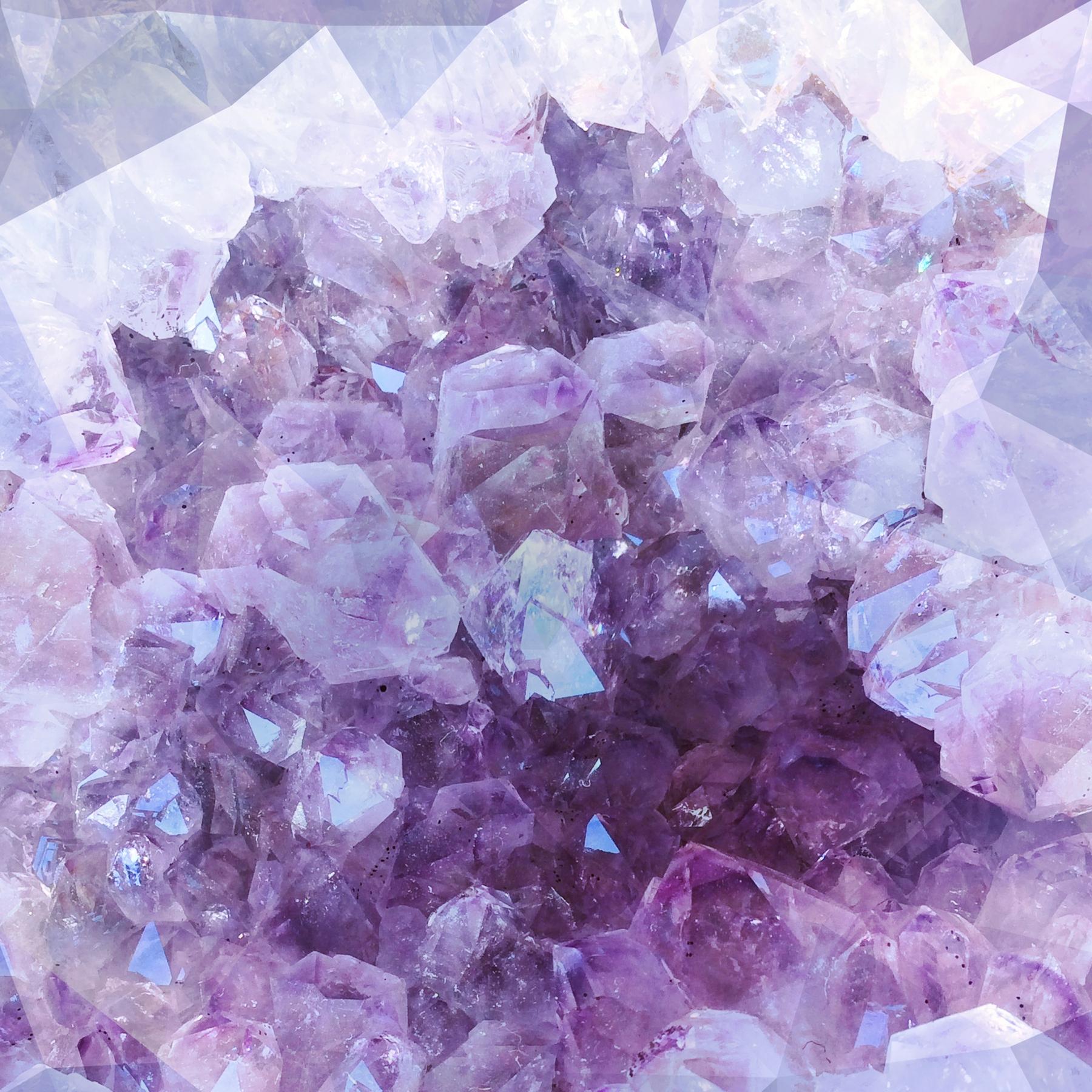 Buy Ultraviolet Crystals Wallpaper Free Shipping At Happywall Co Uk