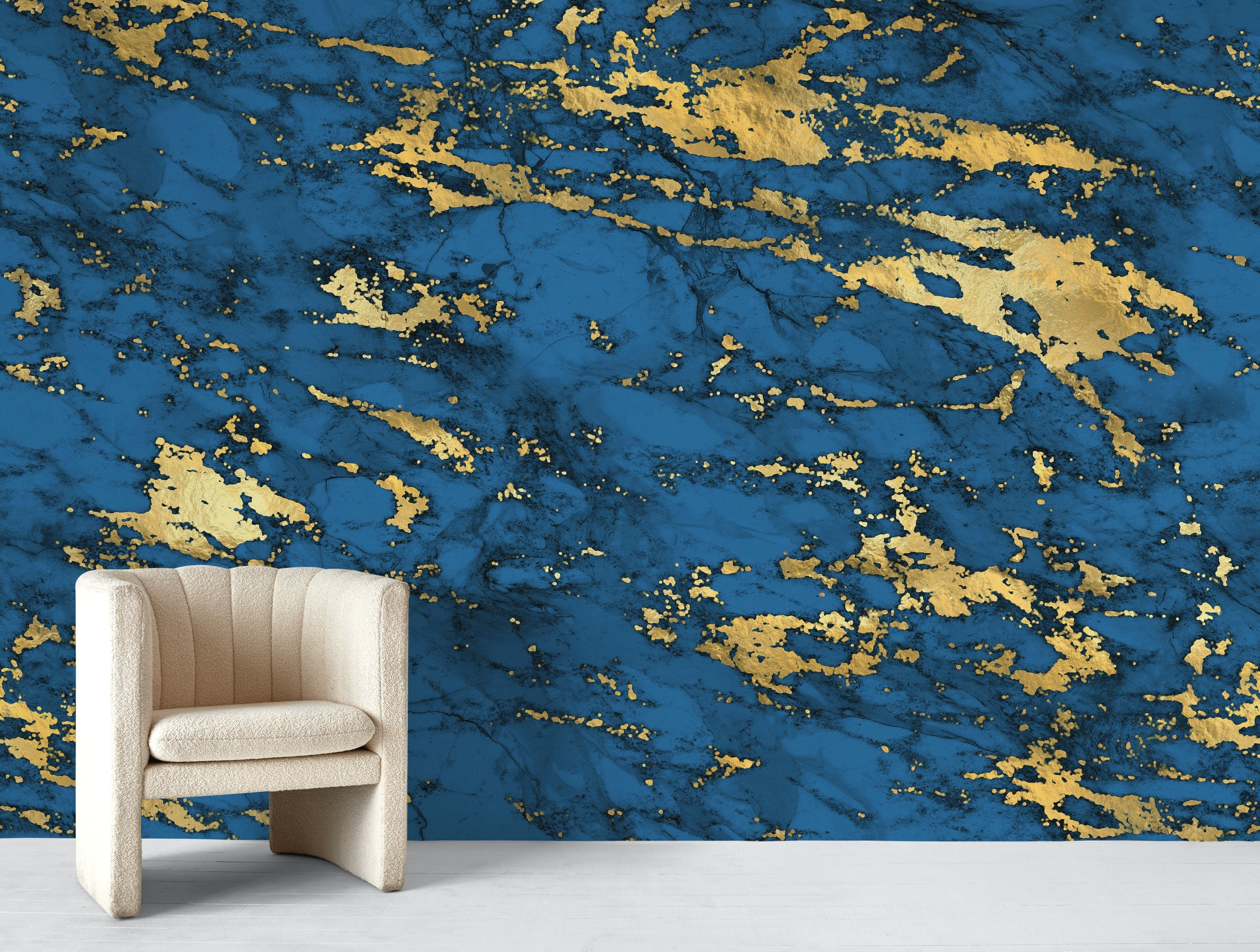 Buy Blue Gold Marble 05 Wallpaper Free Us Shipping At Happywall Com