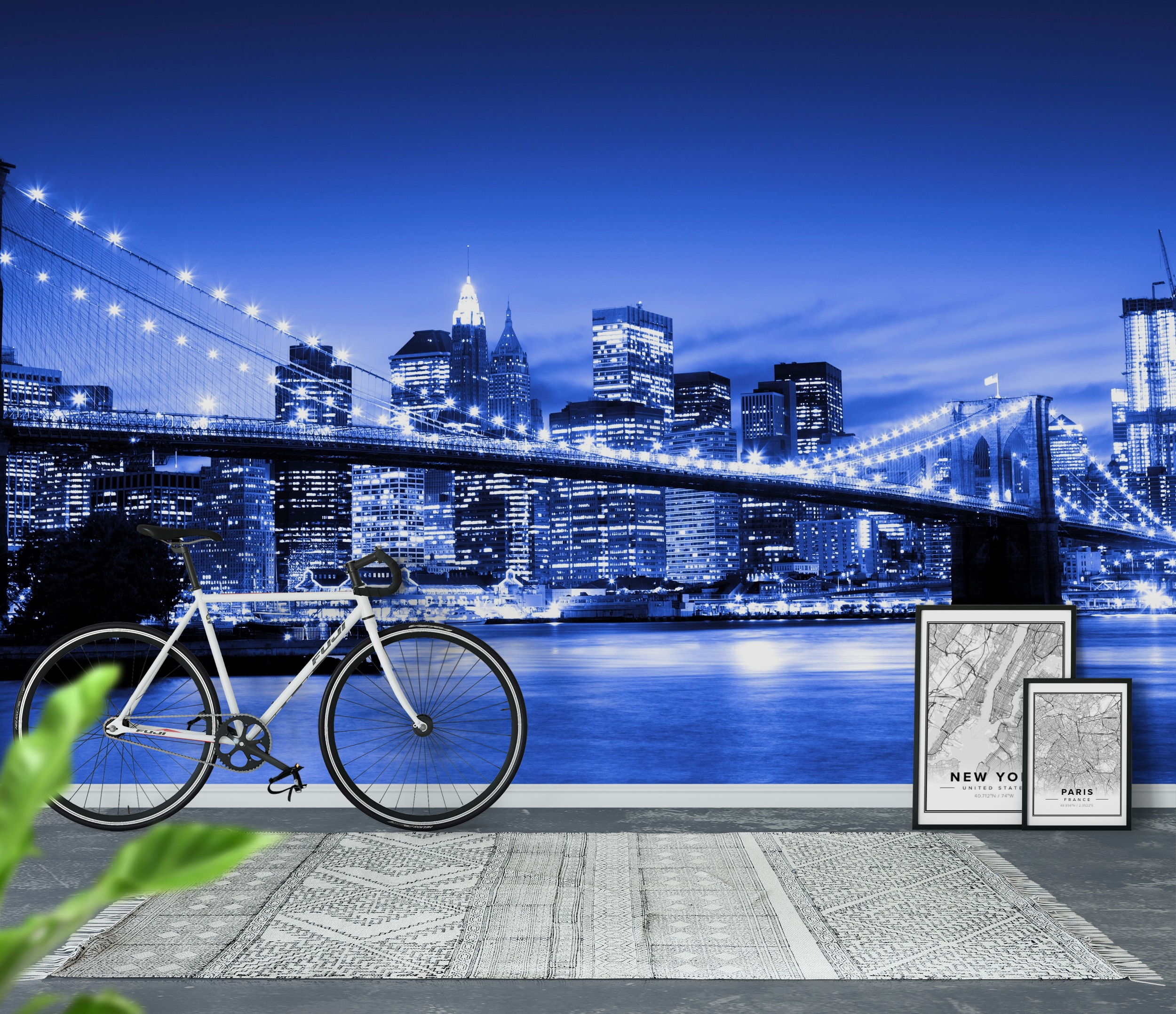 Wall mural brooklyn bridge photo wallpaper new york for Brooklyn bridge mural wallpaper