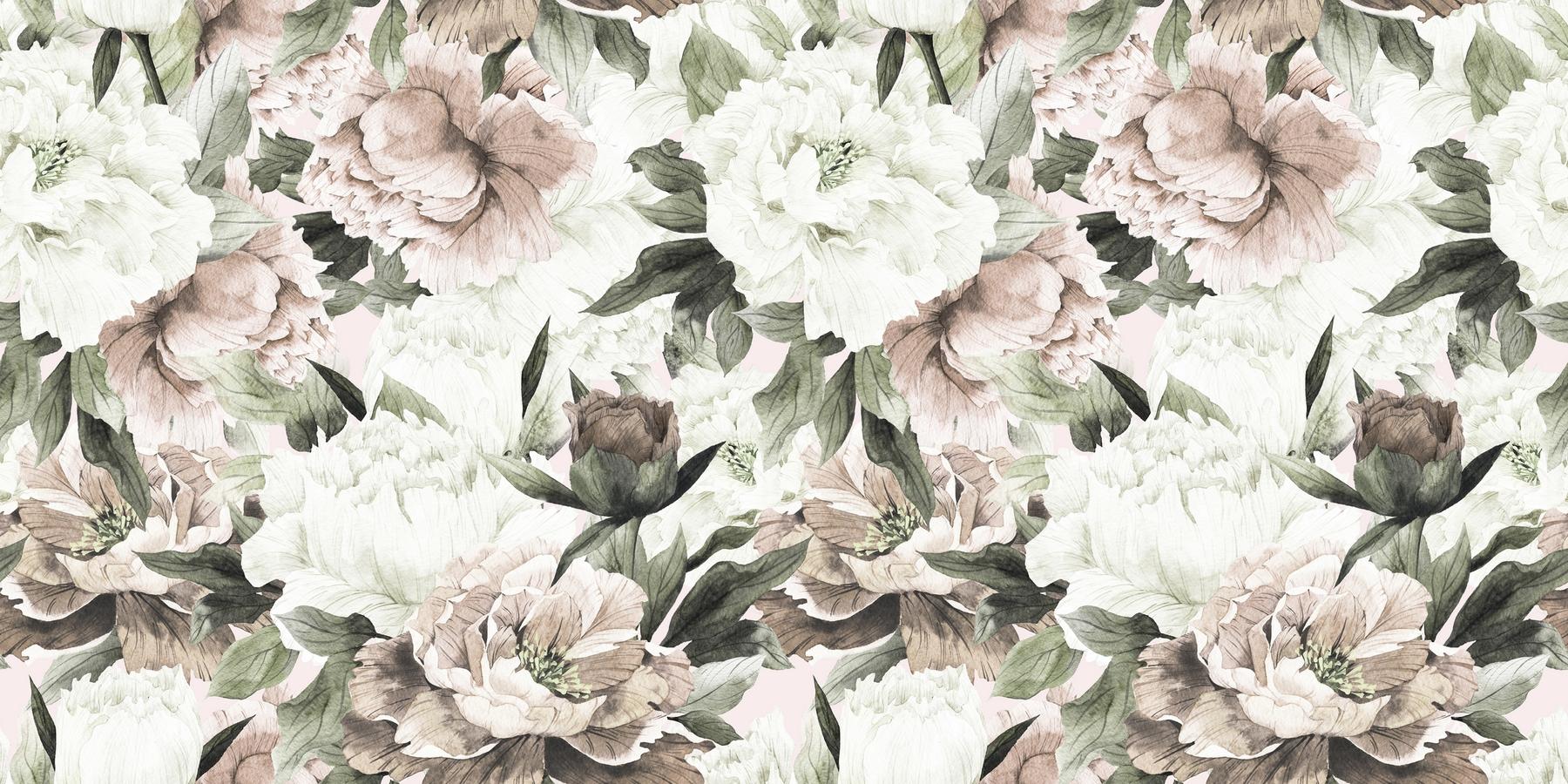 Buy Vintage Blush Floral Wall Mural