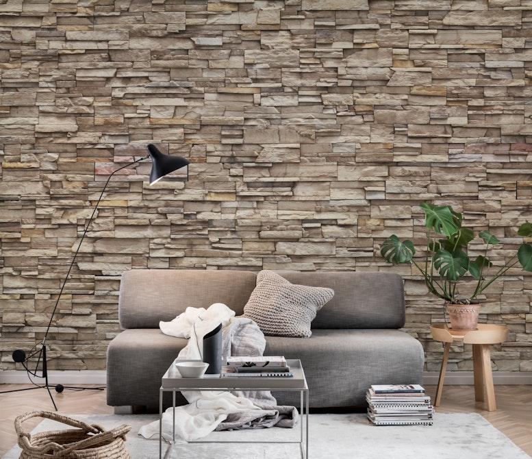 tapet mursten Lys mursten tapet | Fototapet | Beige | Mosaik | Sten   Happywall tapet mursten