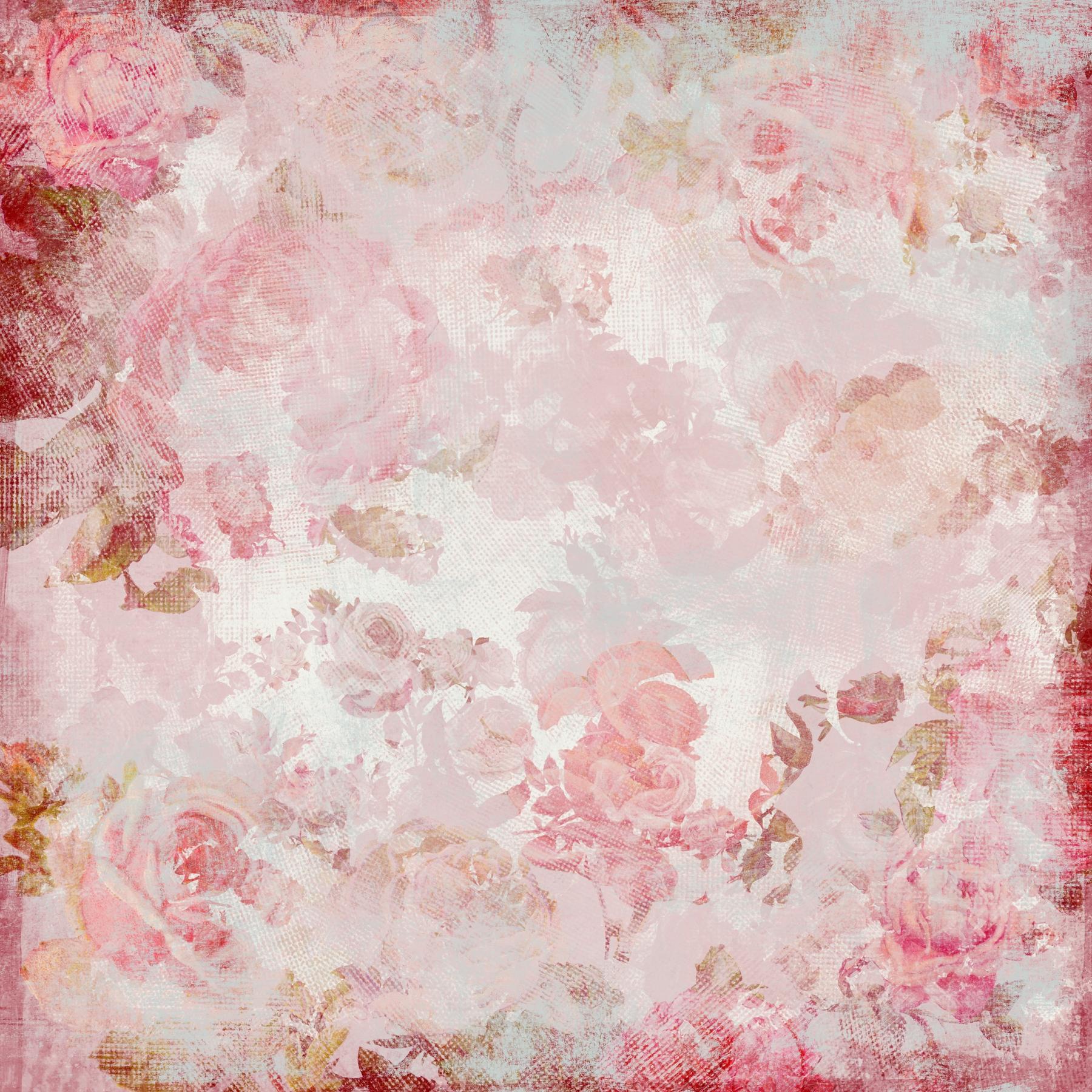 Flower Wall Murals Uk Pink Roses Pattern Wall Mural Photo Wallpaper Happywall