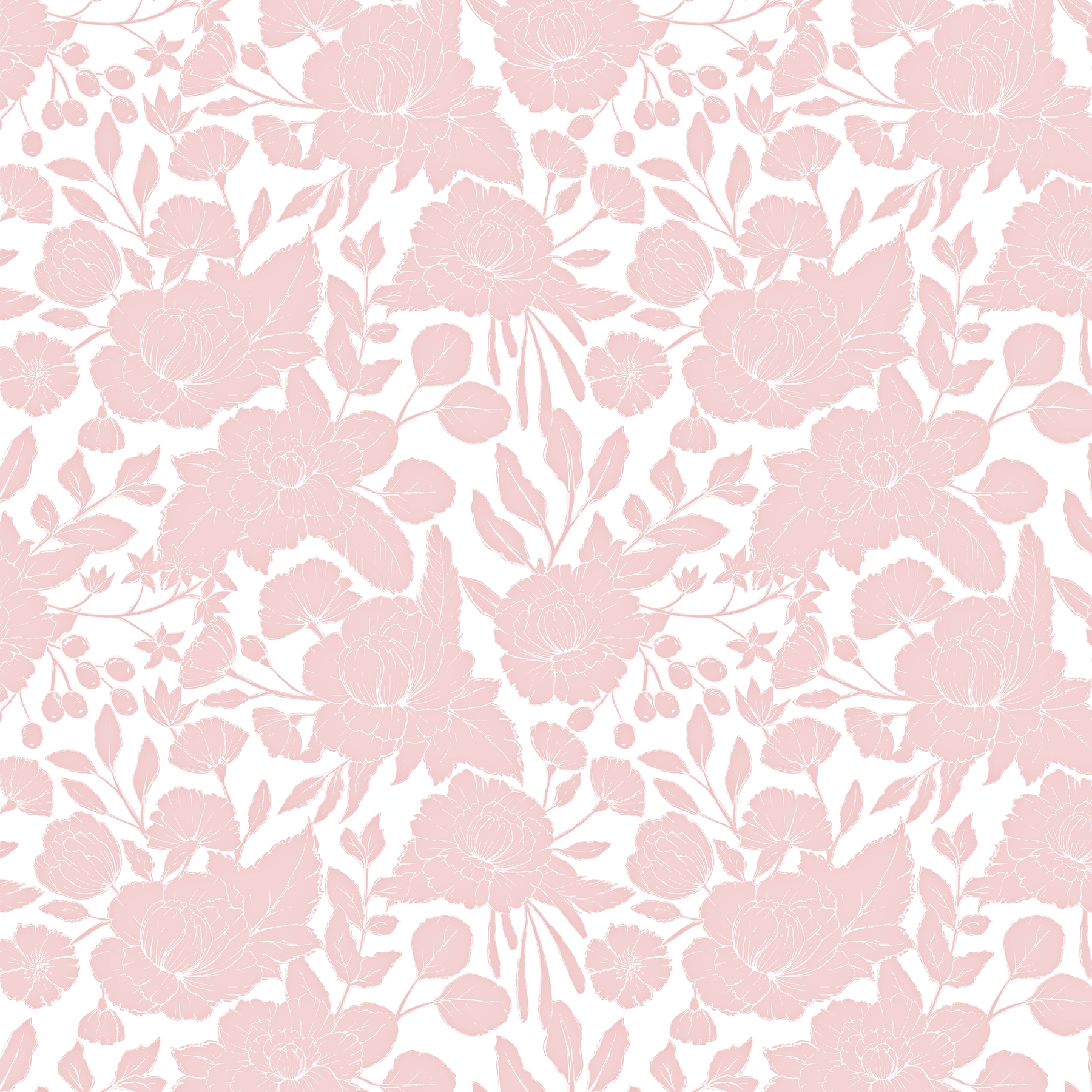 Buy Light Pink Flower Pattern Wall Mural Free Us Shipping At