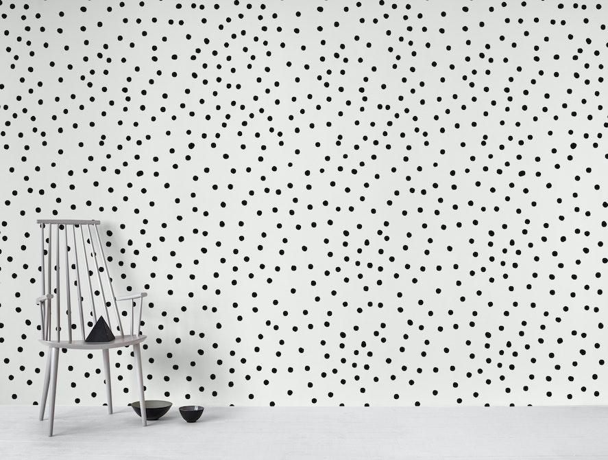Buy Black Dots Wall Mural Free Us Shipping At Happywall Com