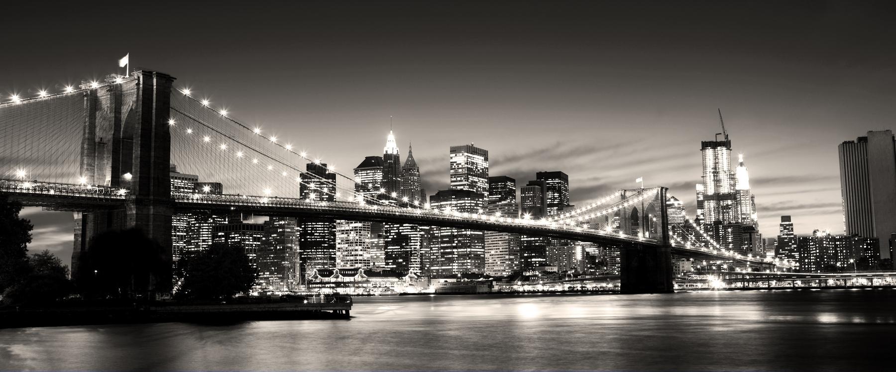 Buy Brooklyn Bridge Sepia Wall Mural Free Us Shipping At