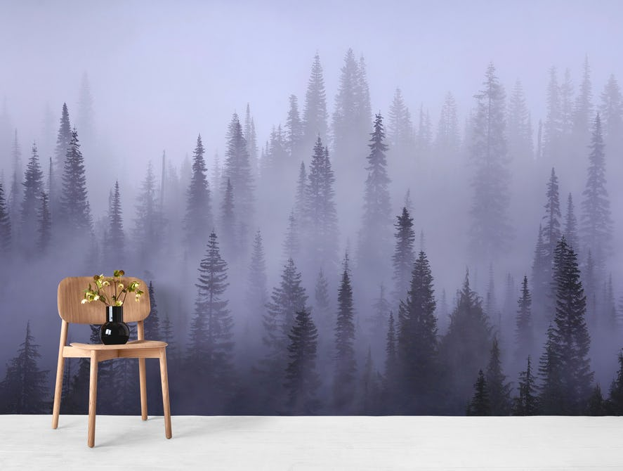 27e6da8c6163 Buy Misty forest wallpaper - Free US shipping at Happywall.com
