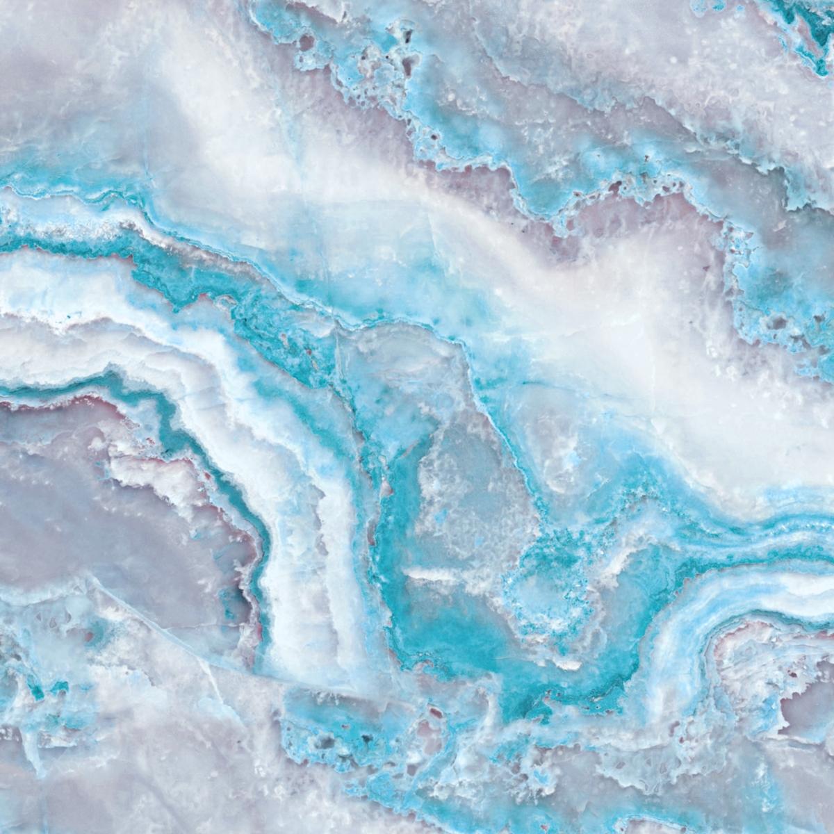 Blue Mermaid Ocean Marble Tapet Fototapet Happywall