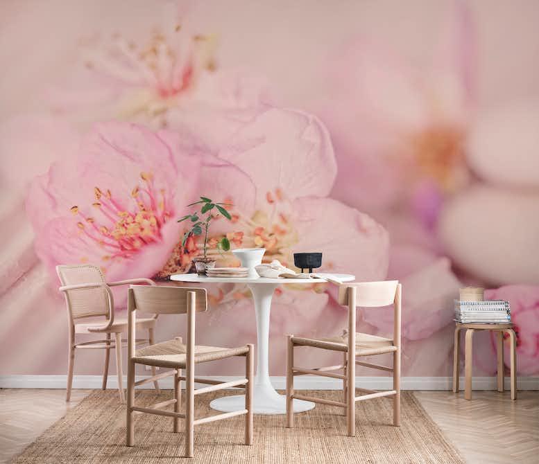 Buy pink pastel peach tree flowers wall mural free us shipping at pink pastel peach tree flowers wall mural mightylinksfo