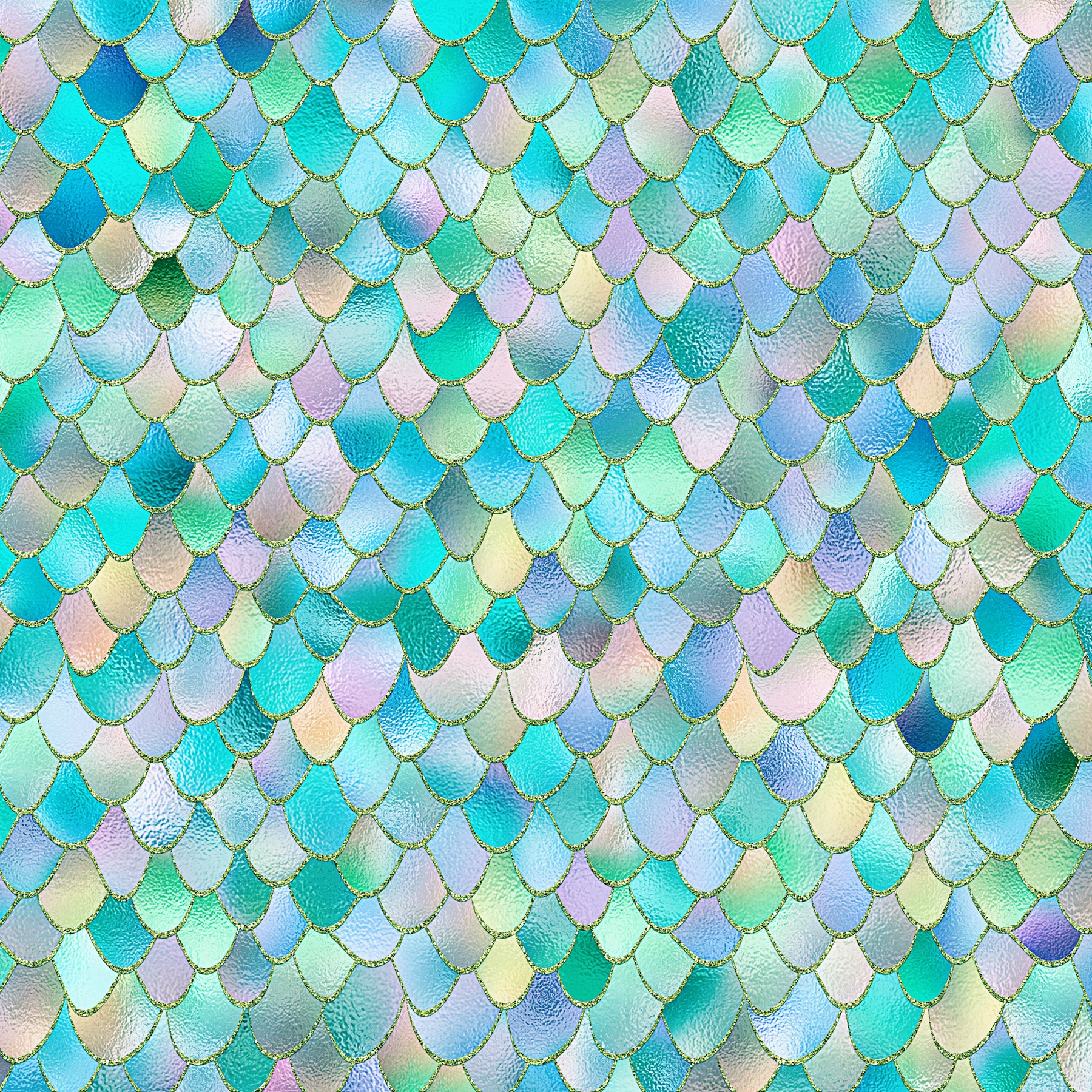 Buy Teal Metal Mermaid Scales Wall Mural Free Us