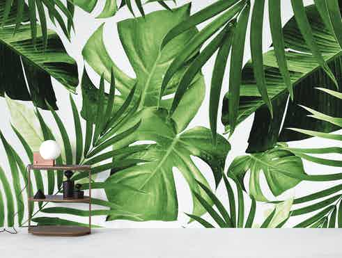 Buy Tropical Jungle Leaves 12 Wallpaper Free Us Shipping At Happywall Com Seamless wallpaper with green tropical leaves for vector. buy tropical jungle leaves 12 wallpaper