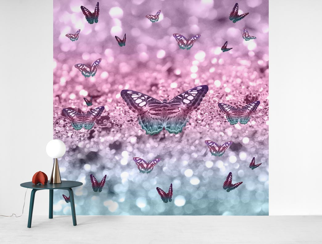 Pastel Unicorn Butterfly 2 Wall Mural