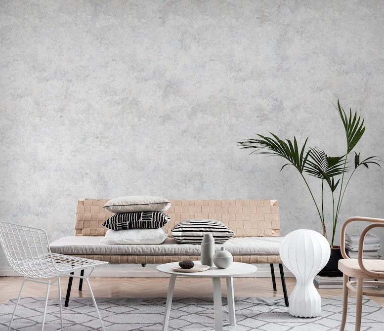 Light concrete Wall mural Photo wallpaper Texture Happywall