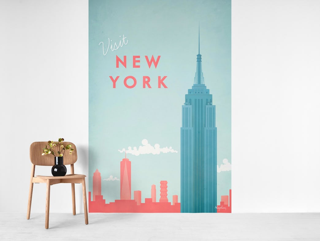 New York Travel Poster Wall Mural