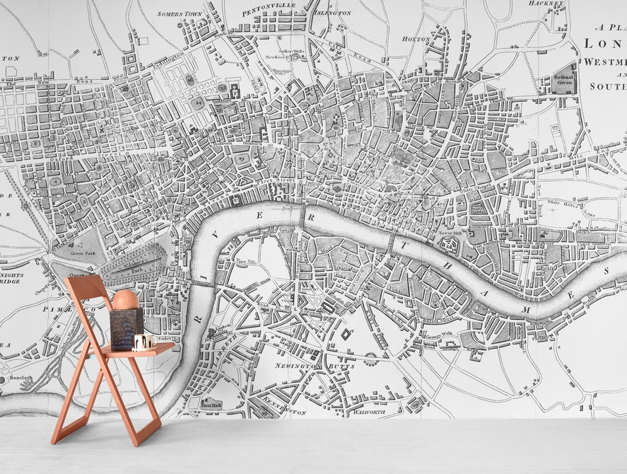 Free London Map.Buy London Map Wallpaper Free Us Shipping At Happywall Com