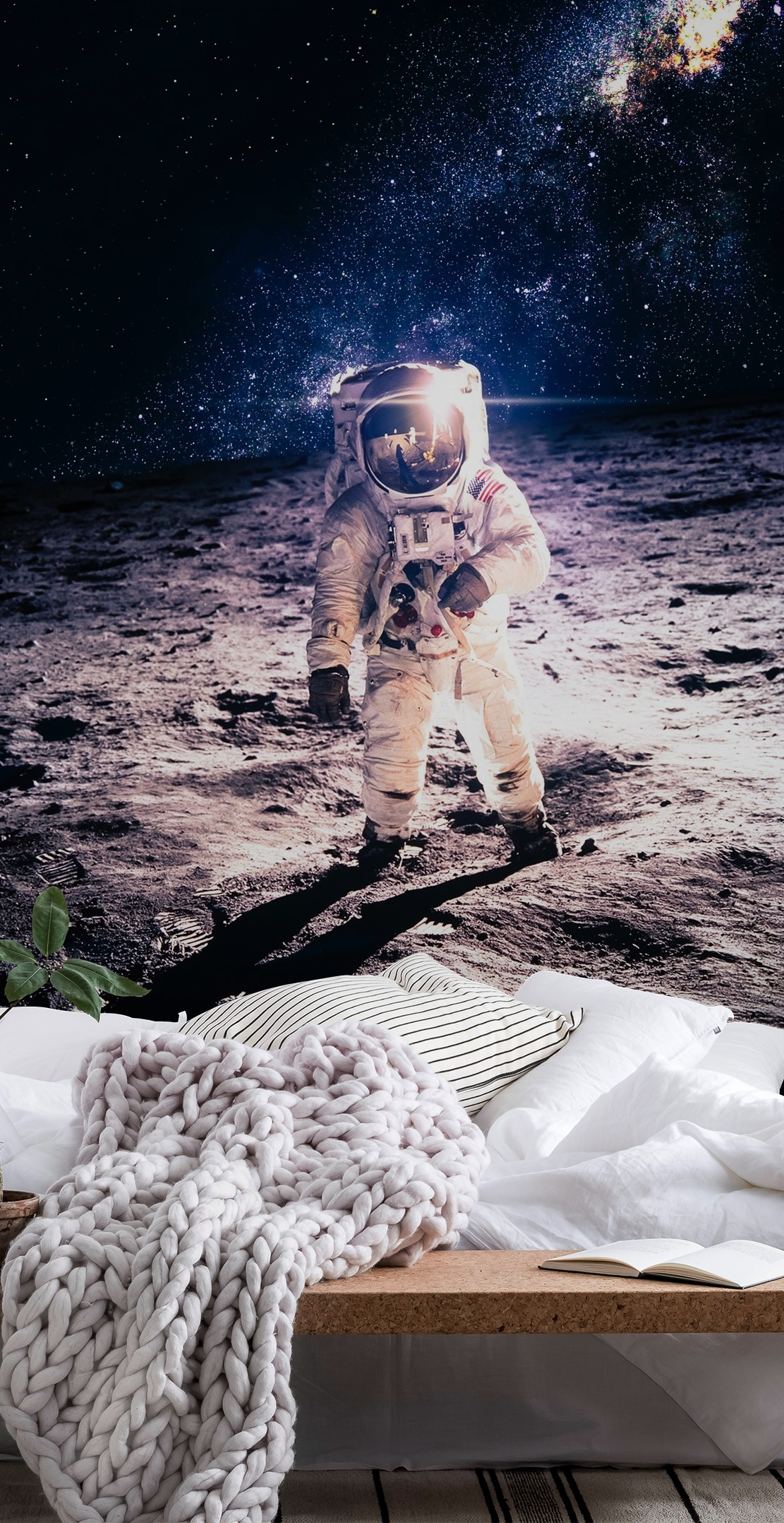Wall mural astronaut photo wallpaper space moon for Astronaut wall mural