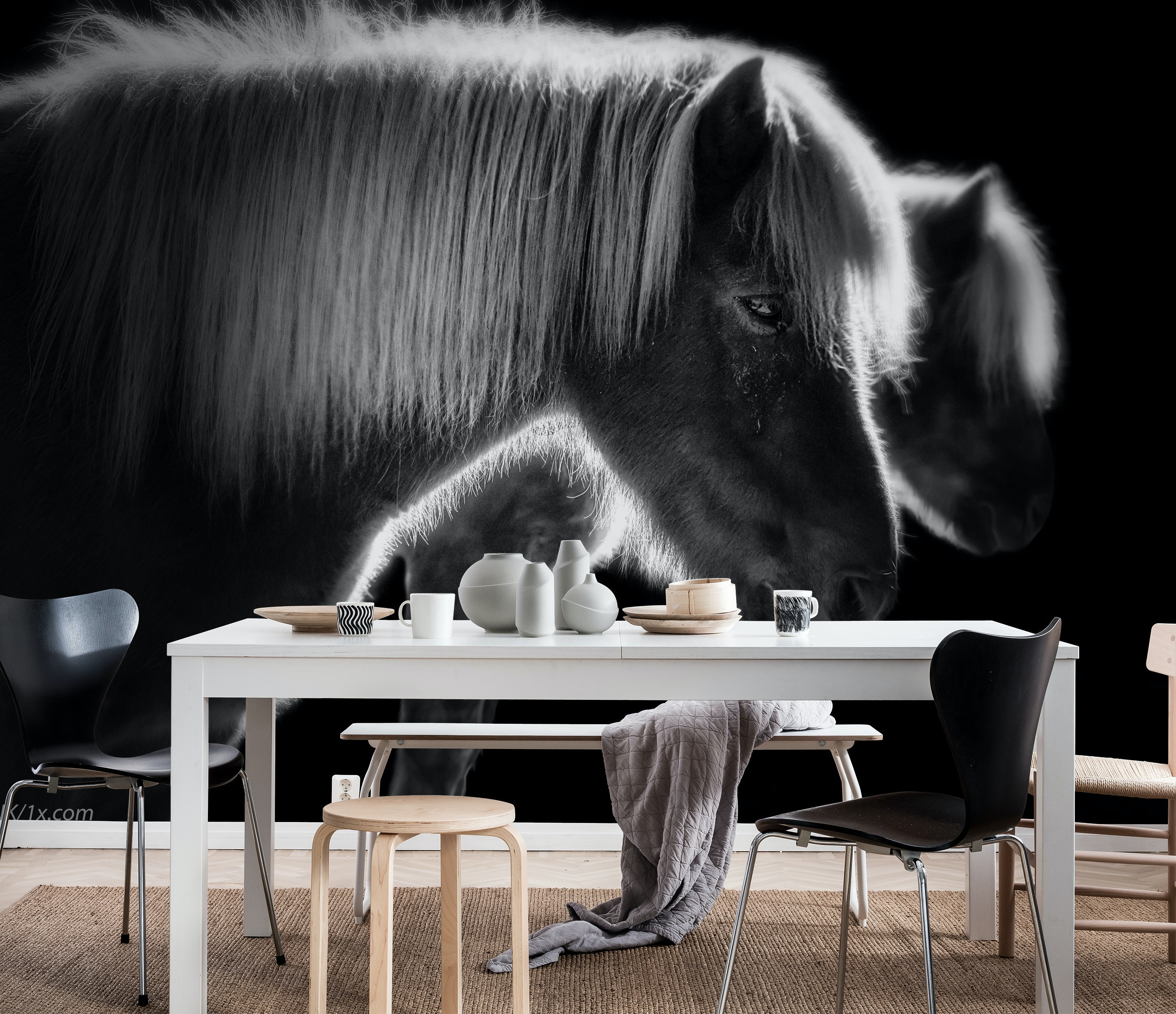 Buy Two Beautiful Horses Wallpaper Free Us Shipping At Happywall Com