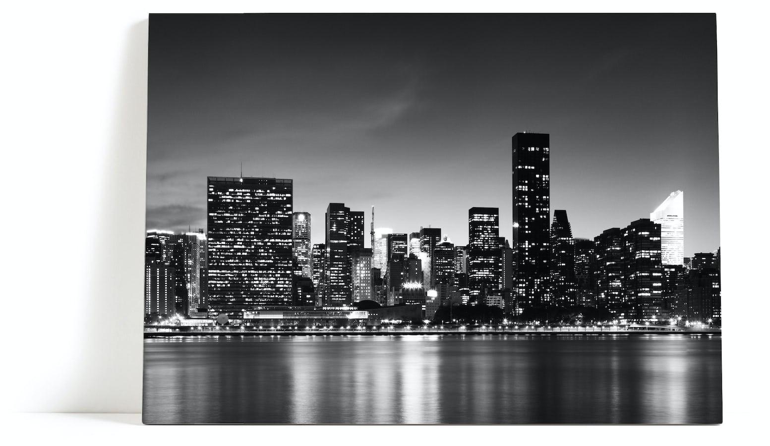 #585251 Dette års New York Skyline Tavla Canvastavla Manhattan Skyskrapor Gør Det Selv New Yorker Væg 5801 15539005801