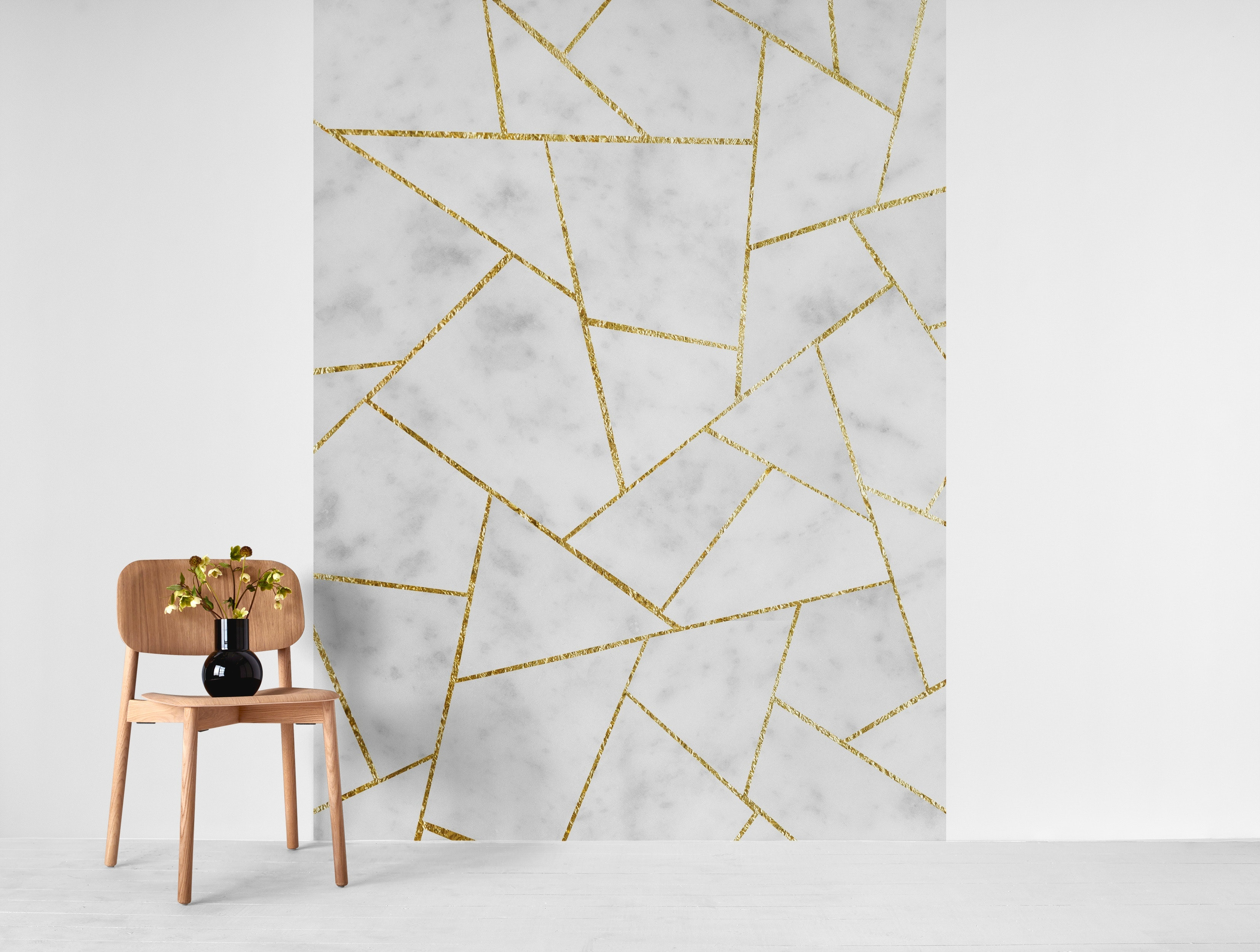 Buy White Marble Gold Geometric 1 Wallpaper Free Us Shipping At Happywall Com
