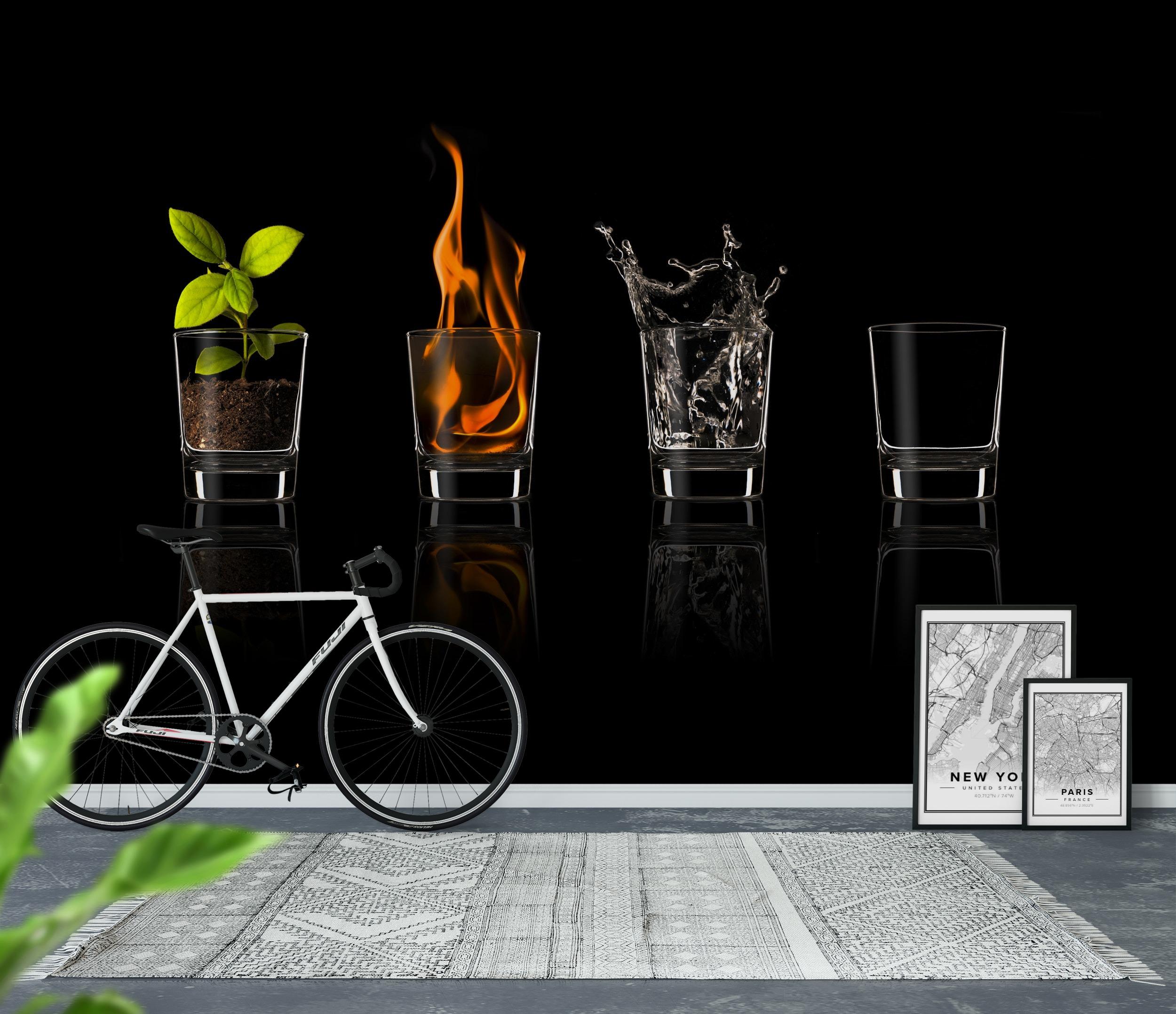 wall mural elements photo wallpaper happywall. Black Bedroom Furniture Sets. Home Design Ideas