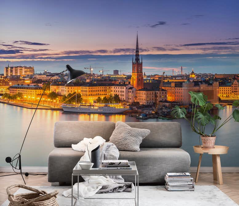 Buy Stockholm Panorama Wall Mural Free Us Shipping At Happywall