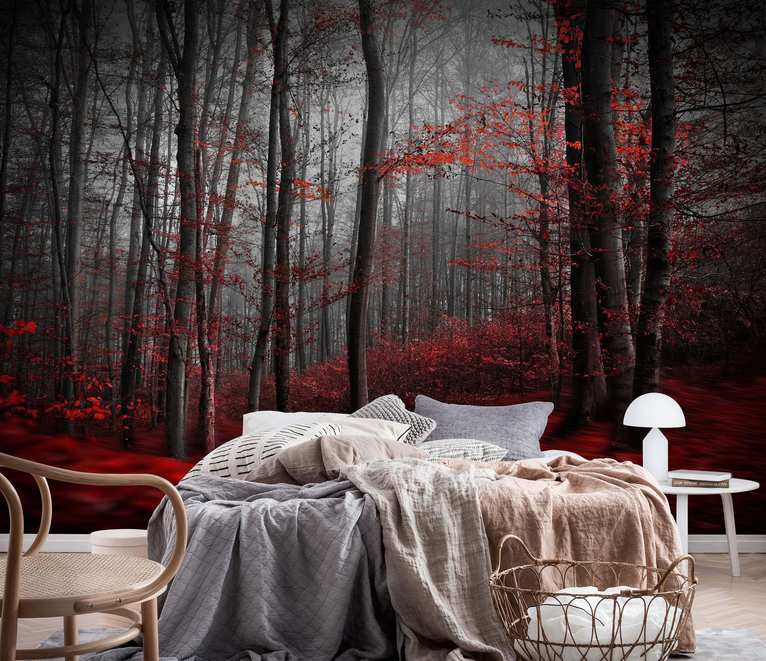 Wall mural bloody river photo wallpaper red happywall for Bloody wall mural
