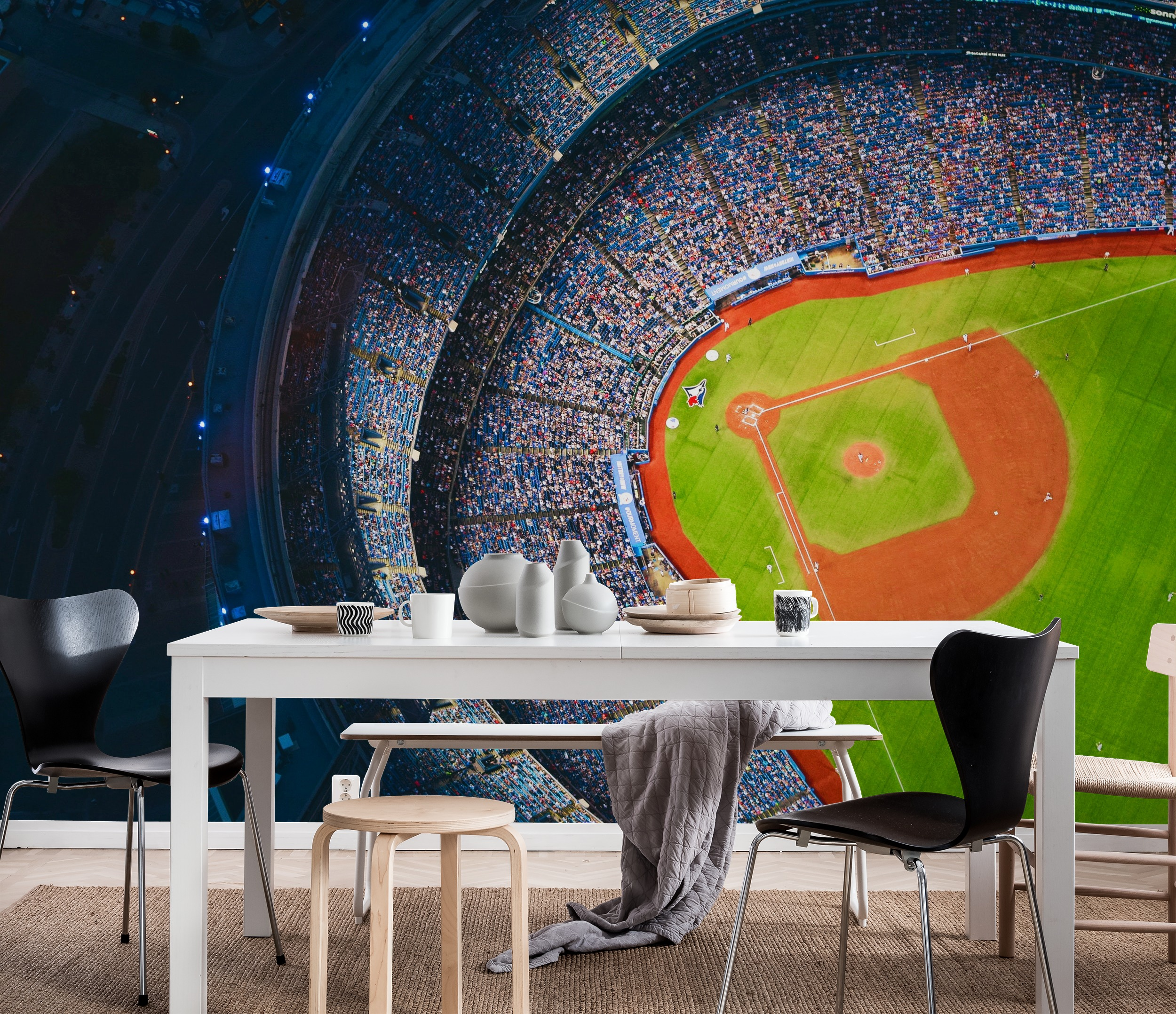 Wall mural baseball photo wallpaper happywall for Baseball mural wallpaper