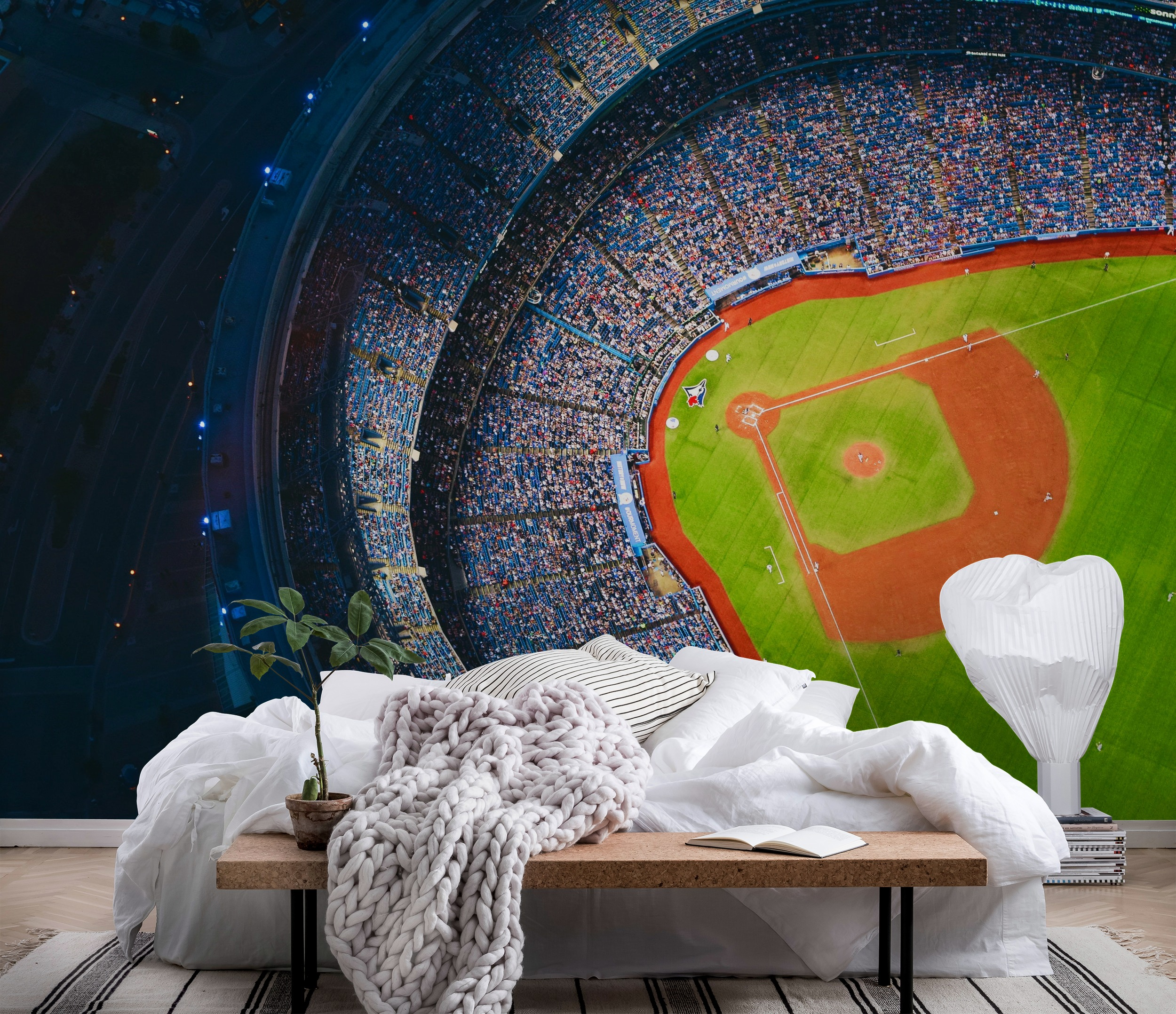 Wall mural baseball photo wallpaper happywall for Baseball mural wallpaper