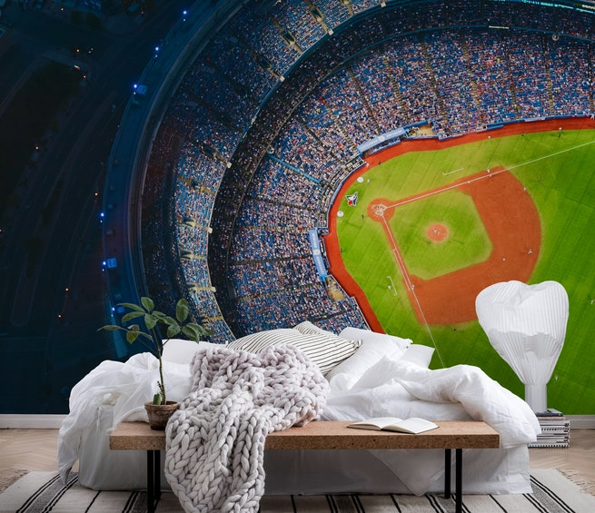 Baseball Wall Mural wallpaper baseball | wall mural - happywall